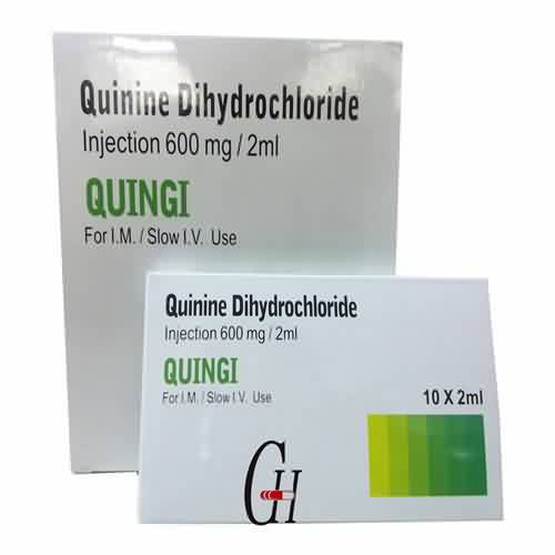 Quinine Dihydrochloride Injection 600mg/2ml