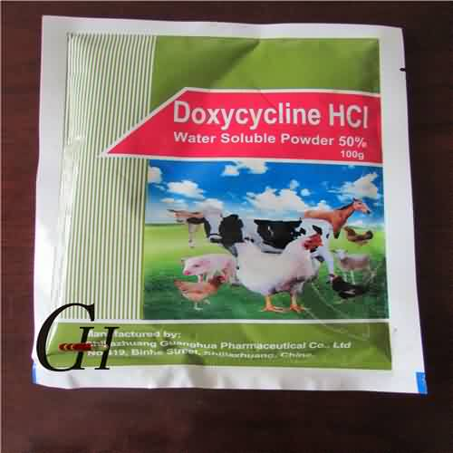 Doxycycline HCL Larut Air Powder 50% Gambar Pilihan