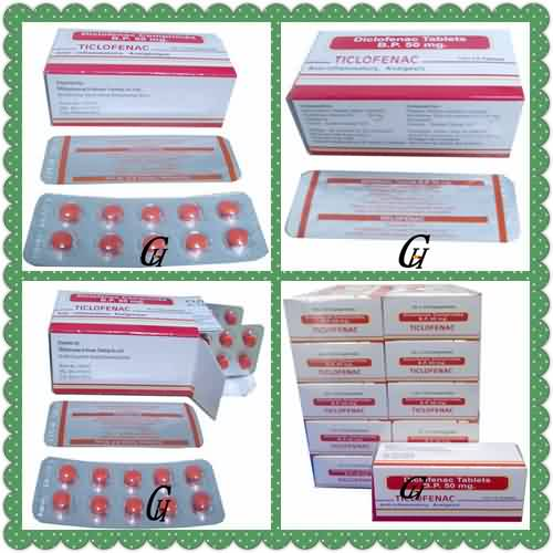 Analgesic Diclofenac Tablets 50mg