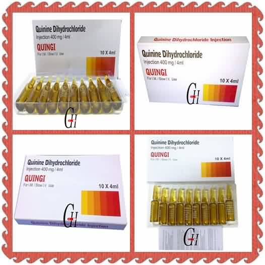 Antiparasitic Quinine Dihydrochloride Injection