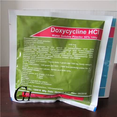 Doxycycline HCL larut Powder 50%
