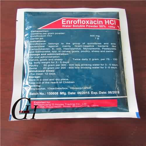 Enrofloxacin HCL Water Soluble Powder