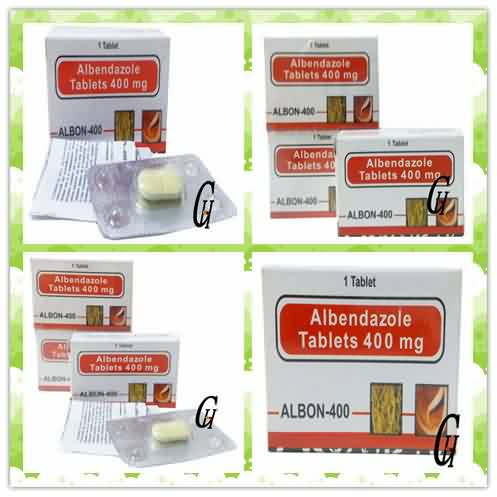 Antiparastic Albendazole Tablets 400mg