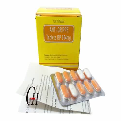 Anti-Grippe Tablets BP 654 mg