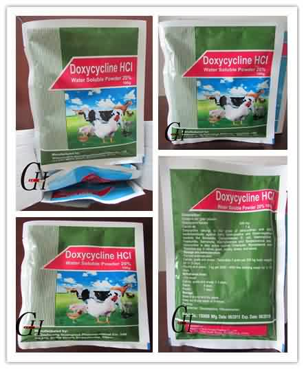 Antibiotik Doxycycline HCL Larut Air Powder 20%