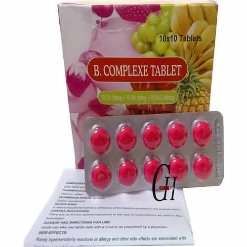 High reputation Eye Protect Supplements - B Complexe Tablet BP – G-House