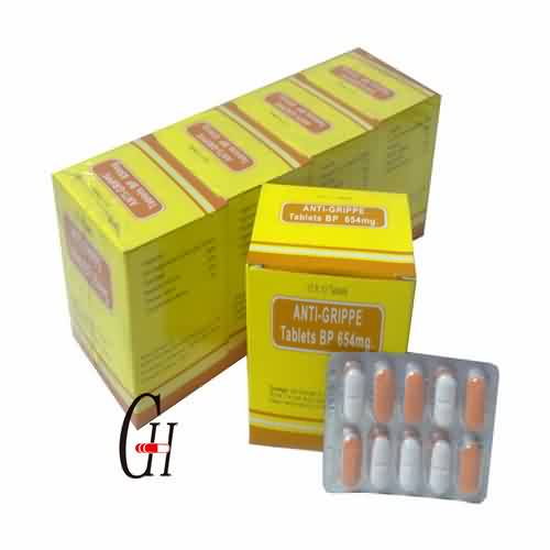 Anti-Grippe Tablets BP 654mg