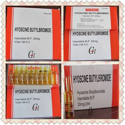 Scopolamine Butylbromide injection 20mg / 2ml