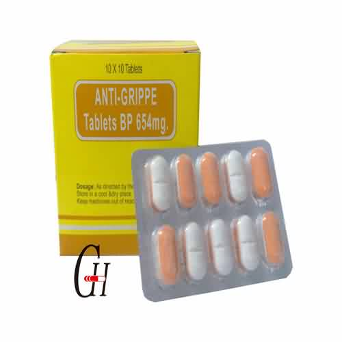 Super Lowest Price Cardiovascular Disease Drug - Anti-Grippe Tablets BP 654 mg – G-House