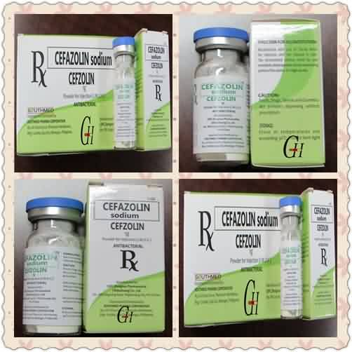 Antibiotics cefazolin sodium alang sa injection