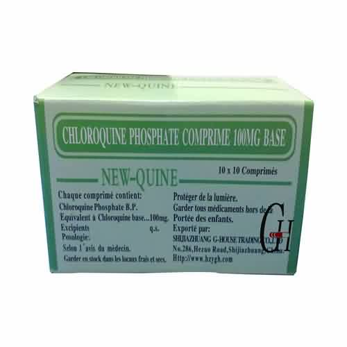 Cheapest Price  Piracetam Tablets - Chloroquine Phosphate Tablets BP 100mg – G-House